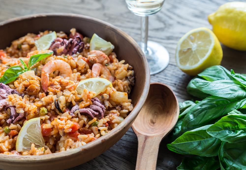 recetas saludables arroz con mariscos