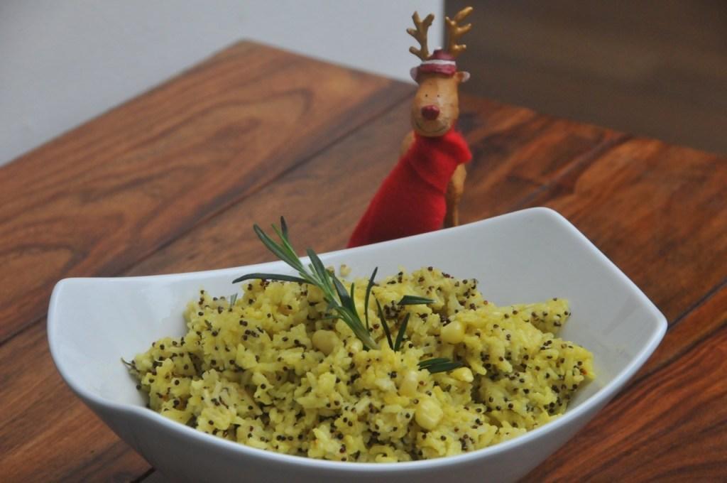 arroz con cúrcuma y quinua