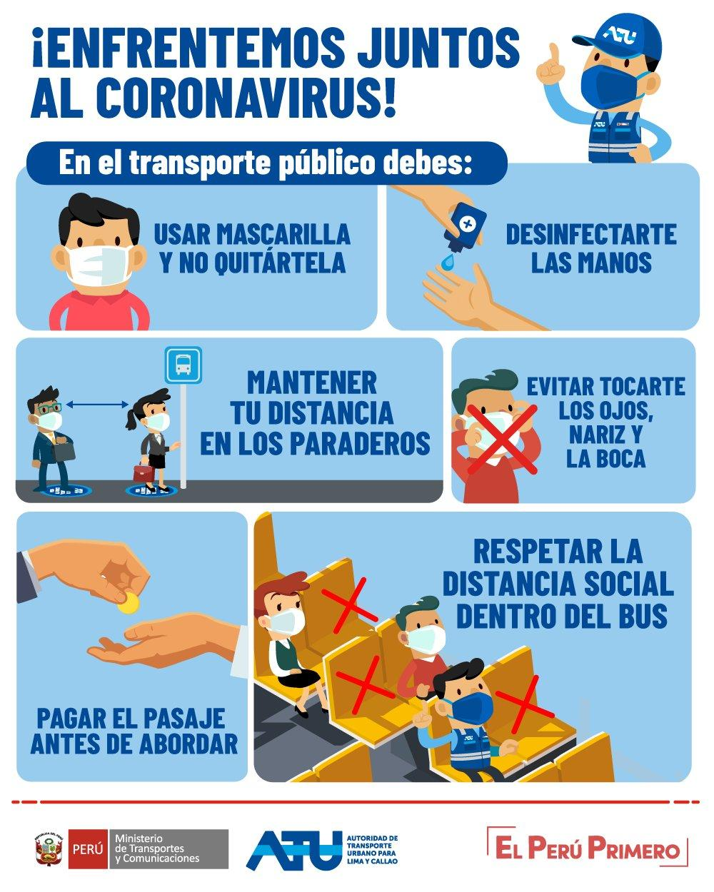 recomendaciones para usuarios de transporte público ante el coronavirus