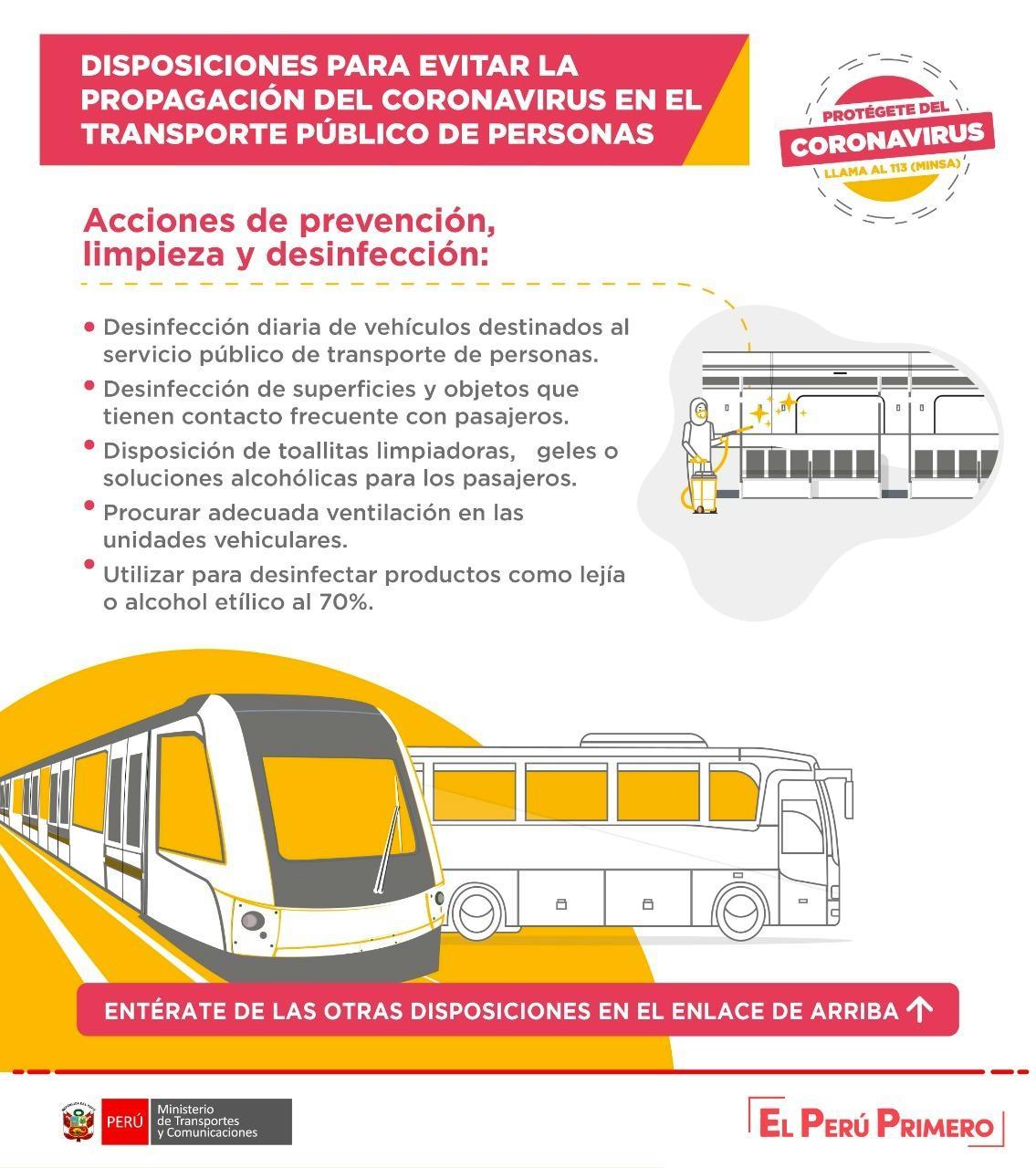 recomendaciones para conductores de transporte público ante el coronavirus