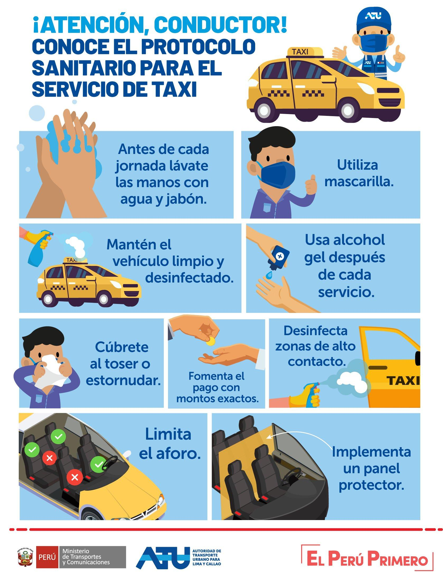 recomendaciones para taxis coronavirus