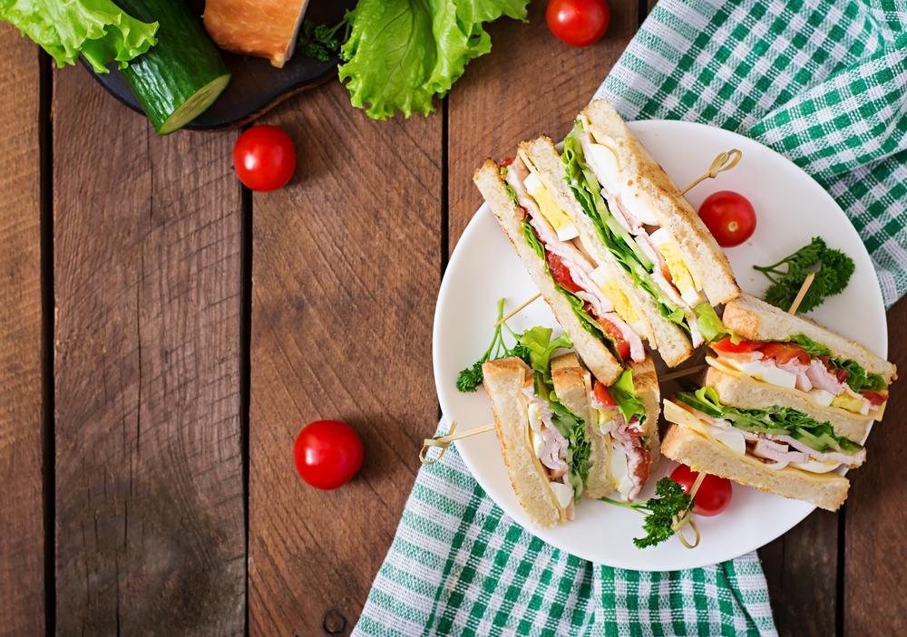 sandwish para desayunos saludables