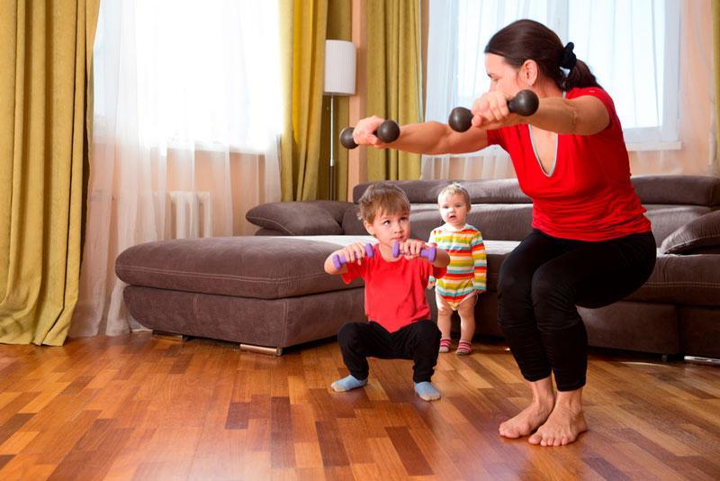 Ejercicios en casa para mamás sin tiempo