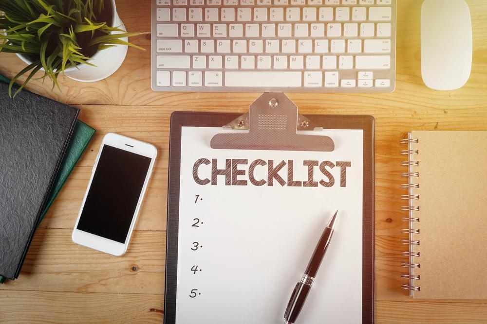 Checklist para trabajar desde casa