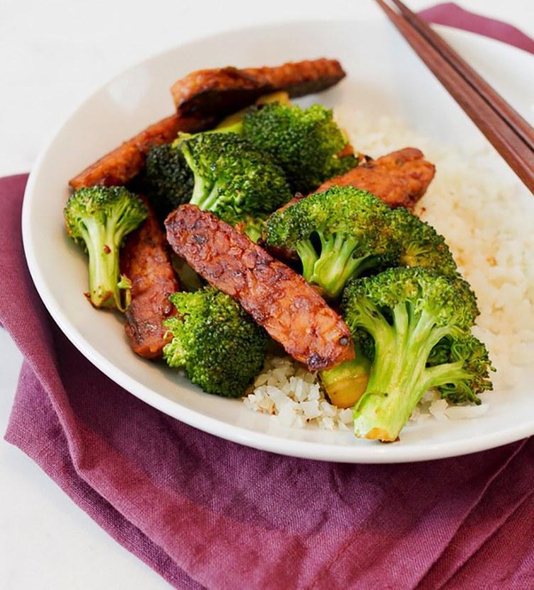 teriyaki temphe con brocoli almuerzos saludables para la semana