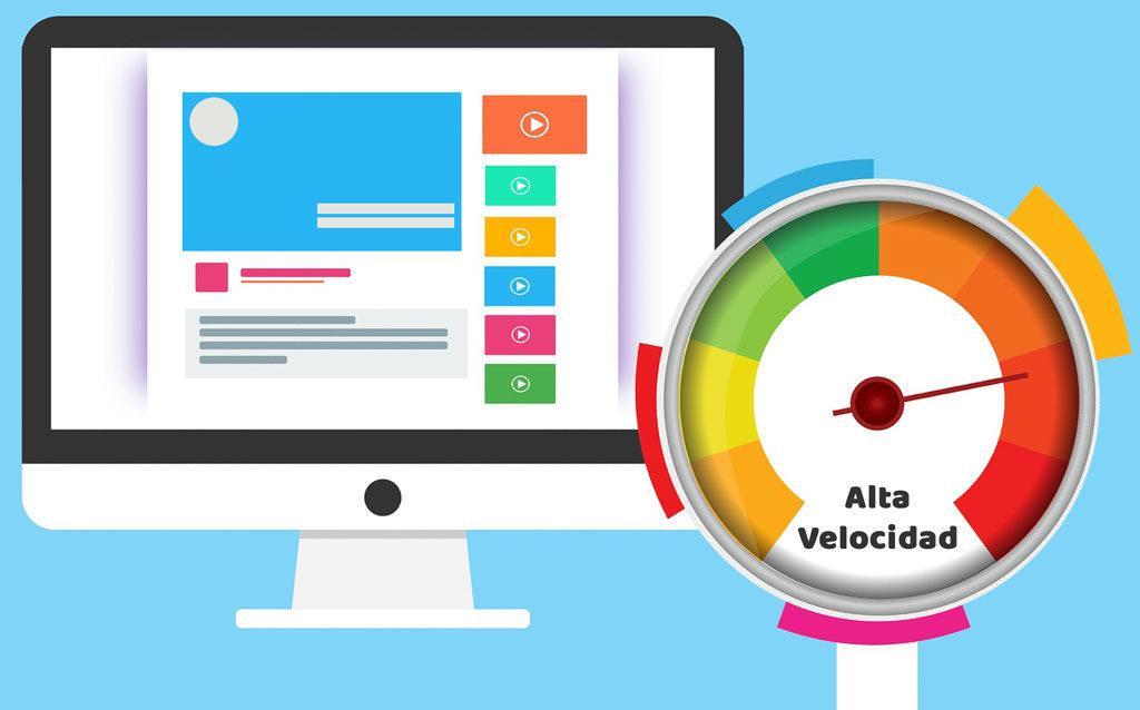 velocidad de sitios web