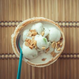 Receta: Helado de coco y cacao