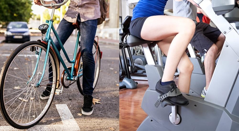 ¿Es mejor hacer ciclismo en las calles o en el gimnasio?