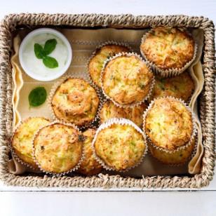 Inesperados muffins de platano y zucchini