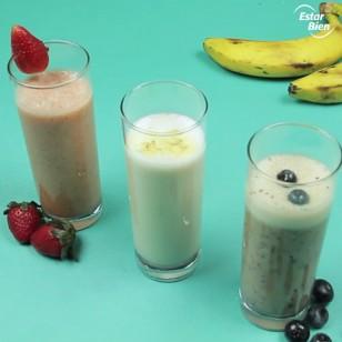 3 smoothies con plátano