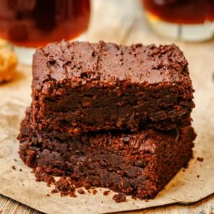 Novedosos y saludables brownies de camote